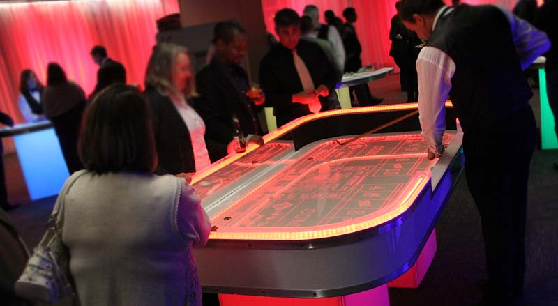 LED Casino Glow Table rental