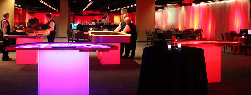 LED Glow Casino Tables