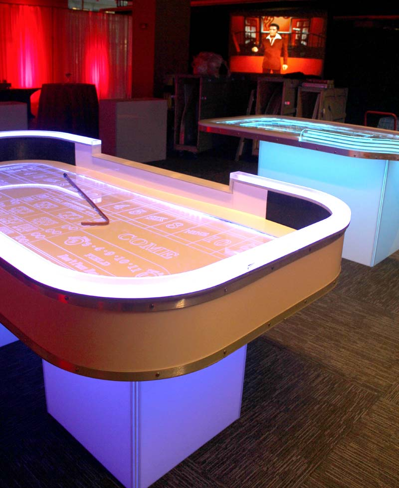LED Casino Glow Tables